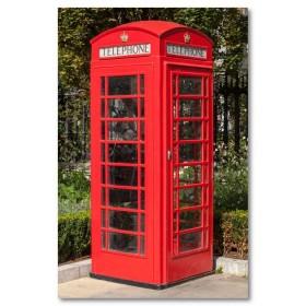 Αφίσα (τηλεφωνικός θάλαμος, φύση, Λονδίνο, πάρκο, τετράγωνο)